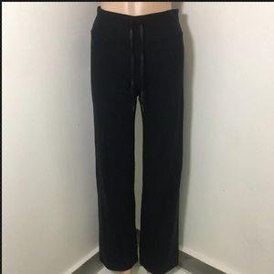 Lululemon Wide Leg Pants Drawstring Black Sz 4